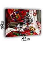 Картина 68х48см Самовар с баранками
