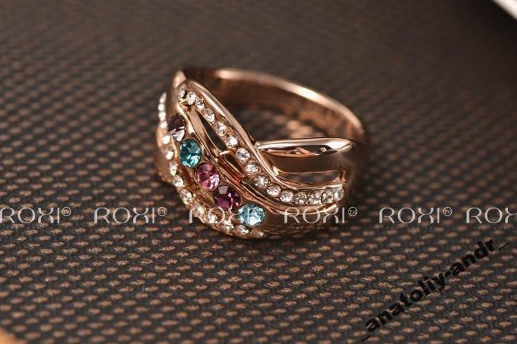 Кольцо Fashion Colorful  Покр золотом Roxi