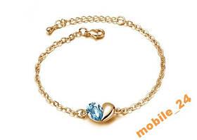 Браслет Austrian Crystal покрытие золото 18K