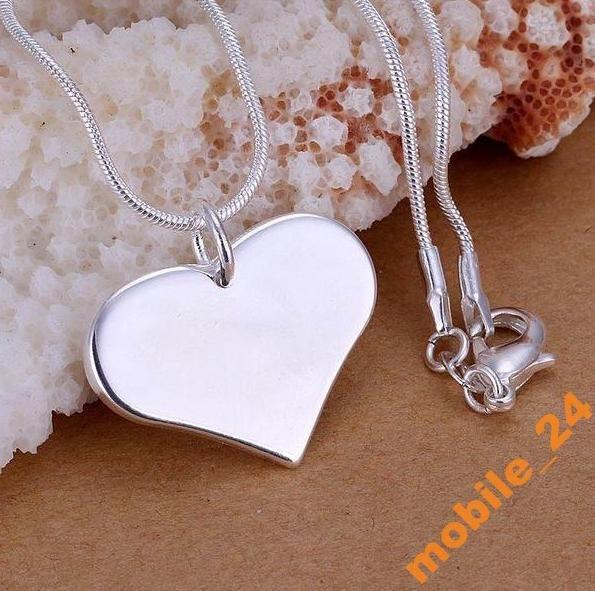 Подвеска сердце Every heart card Серебро 925