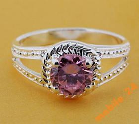 Кольцо с инкрустированным камнем Silver 925