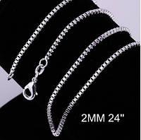 Цепочка 2 мм 60 см 925 Серебро