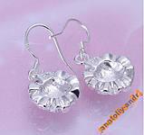Сережки Rose Earrings Серебро 925, фото 5