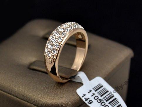 Кольцо Покрытие золото 18K Roxi