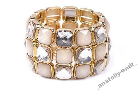 Браслет Glass Bangle Cuff Bracelet