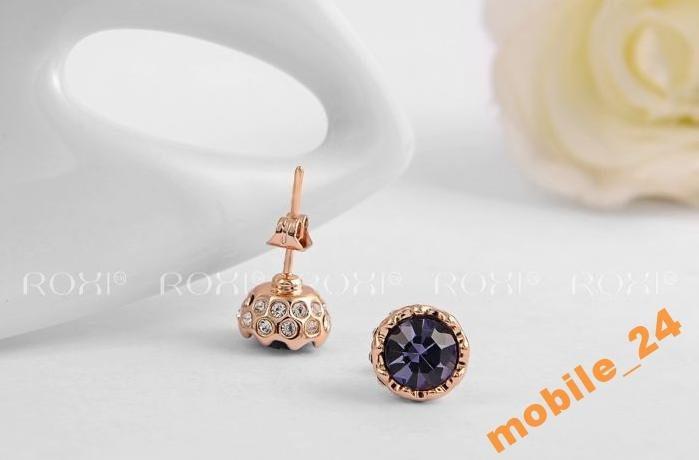 Сережки гвоздики Austrian Crystals Roxi