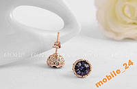 Сережки гвоздики Austrian Crystals Roxi Brand, фото 1