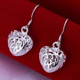Сережки Small Heart Срібло 925