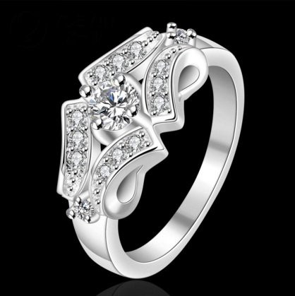 Кольцо 925 sterling silver double circle ring