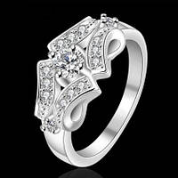 Кольцо 925 sterling silver double circle ring, фото 1