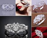 Кольцо 925 sterling silver double circle ring, фото 2