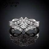 Кольцо 925 sterling silver double circle ring, фото 3