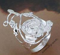 Кольцо Роза Стерлинговое серебро 925, фото 1