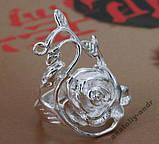 Кольцо Роза Стерлинговое серебро 925, фото 2