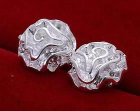 Сережки гвоздики Rose Срібло 925