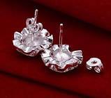 Серьги гвоздики Rose Серебро 925, фото 2