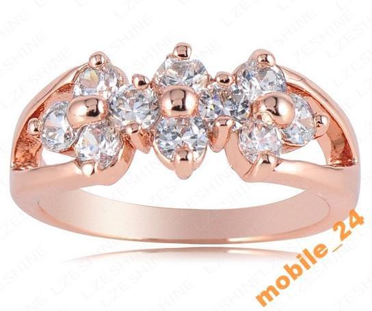 Кольцо с иск. бриллиантом покрытие золотом 18карат