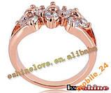 Кольцо с иск. бриллиантом покрытие золотом 18карат, фото 4