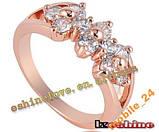 Кольцо с иск. бриллиантом покрытие золотом 18карат, фото 5