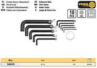 набор ключи шестигранные Польша шестигранки тип L HEX 2-14 мм 10 штук VOREL-56400