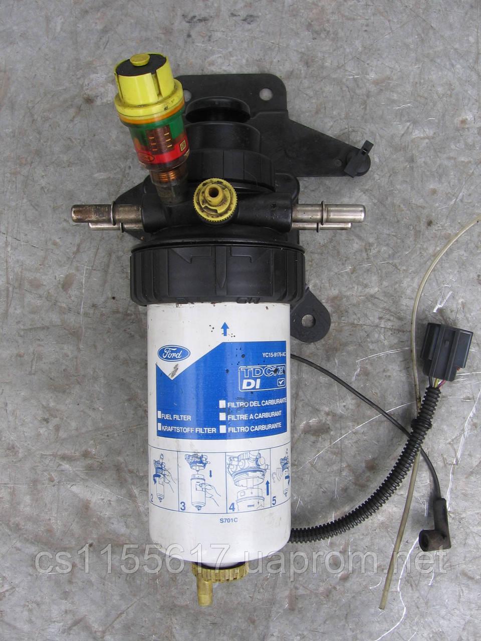 Корпус паливного фільтра (підігрів + підкачка) б/у на Ford Transit 2.0 Di, 2.4 Di 2000-2006 рік