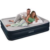 Надувная кровать Intex 64136 (67738), 152 х 203 х 42 , встроенный электронасос. Двухспальная, фото 1