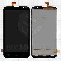 Дисплей для мобильного телефона Gigabyte GSmart Roma RX, черный, с сенсорным экраном, б/у, протестированный