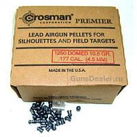 Пули для пневматического оружия. Пули Crosman Premier Domed 10,5gr, 1250 шт/уп., 0,68 г, 4,5 мм