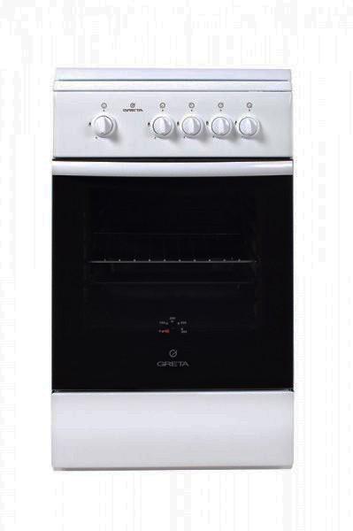 Плита газова GRETA 1470-00 вик. 16 біла/сіра