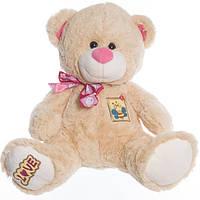 Детская мягкая игрушка, плюшевый мишка Макс,бежевый