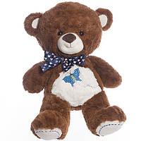 Детская мягкая игрушка,медвежонок Бусинка, коричневый