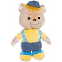 Детская мягкая игрушка, плюшевый мишка Знайка,бежевый