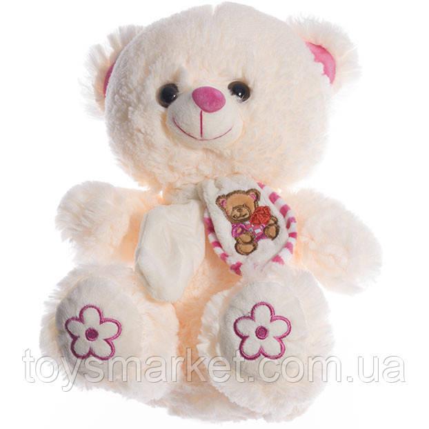 Детская мягкая игрушка, плюшевый мишка Буся, белый