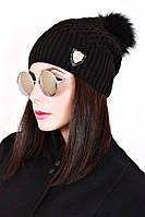 Шапка вязанная женская Белла 0026 (7 цв), женские шапки оптом, шапки от производителя, дропшиппинг