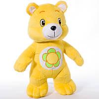 Детская мягкая игрушка, плюшевый мишка Весельчак,желтый