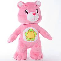 Детская мягкая игрушка, плюшевый мишка Весельчак,розовый