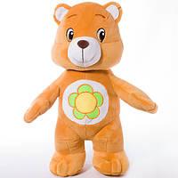 Детская мягкая игрушка, плюшевый мишка Весельчак,оранжевый