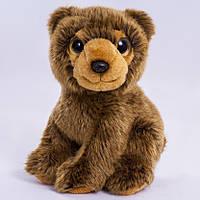 Детская мягкая игрушка, плюшевый мишка Лео,коричневый
