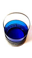 Синяя конфетница в ажурном обрамлении