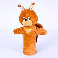 Детская мягкая игрушка,рукавичка,Белочка