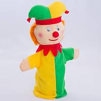 Игрушка рукавичка для кукольного театра Шут, кукла перчатка на руку