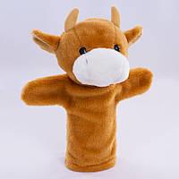 Детская мягкая игрушка,рукавичка,Бычок