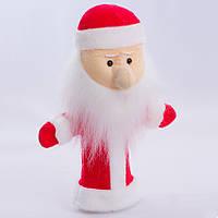 Детская мягкая игрушка,рукавичка,Дед Мороз