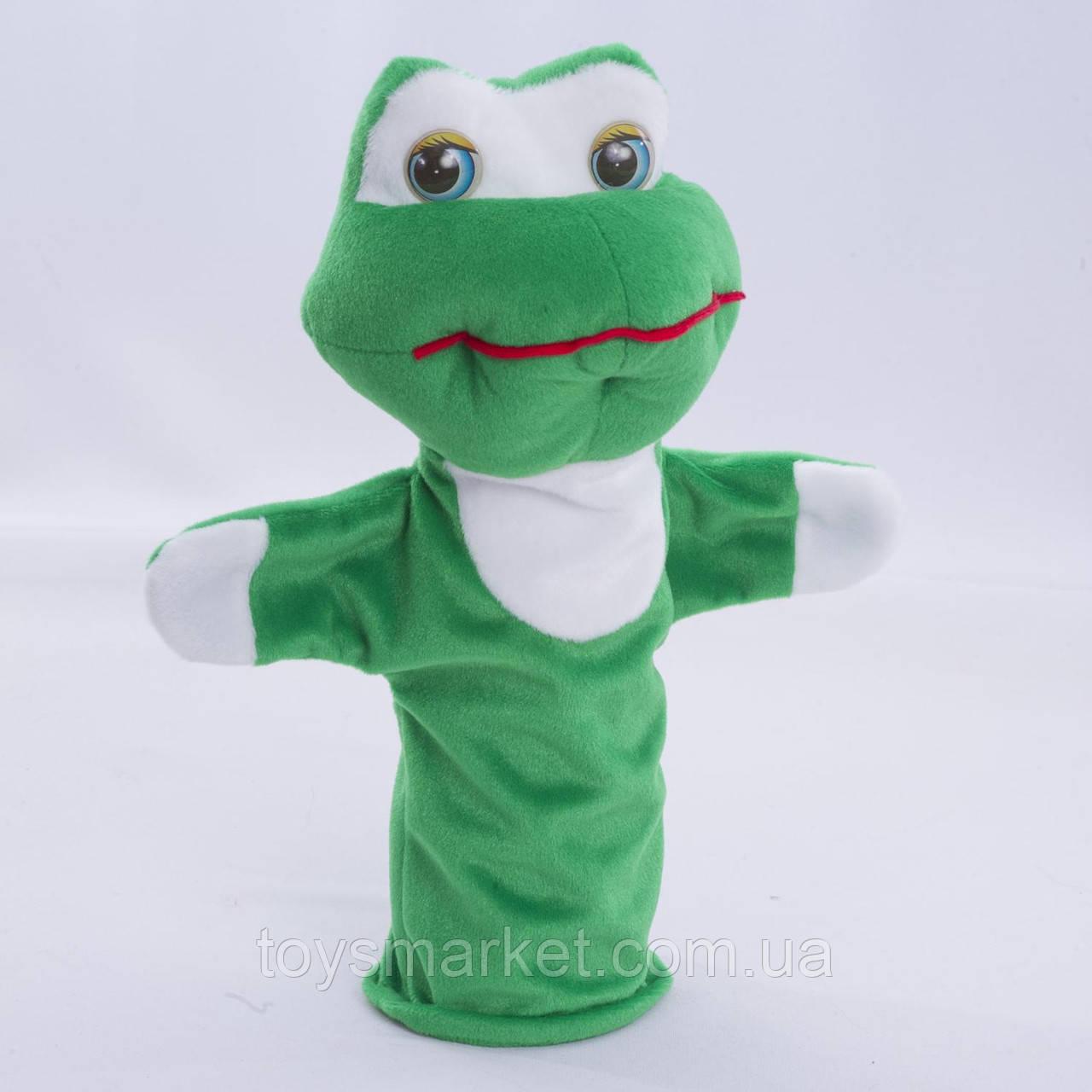 Детская мягкая игрушка,рукавичка,Лягушка