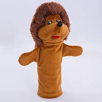 Игрушка рукавичка для кукольного театра Ёжик, кукла перчатка на руку