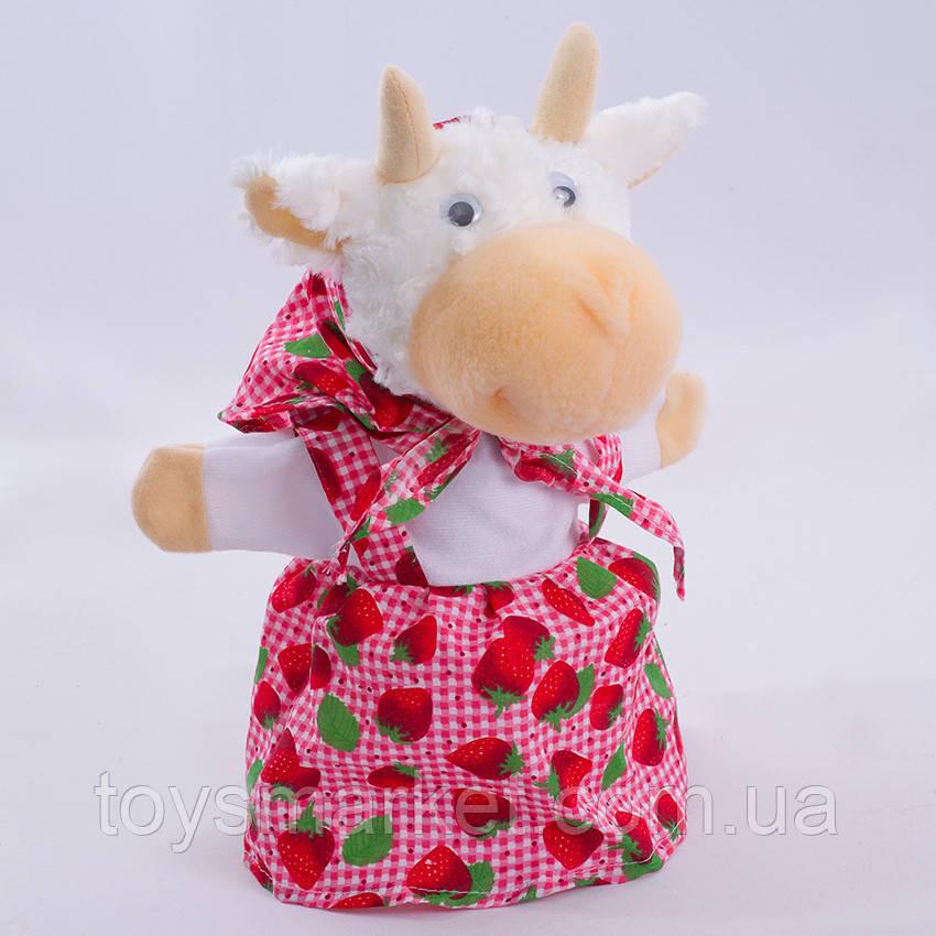Детская мягкая игрушка,рукавичка.Коза