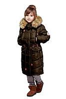 Детская зимняя куртка, отличное качество, мех чернобурка, Микаэлла, 32-38