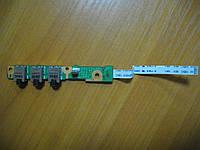 Плата с Аудио разъемами HP DV6-2000 DV6-2110er