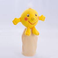 Игрушка рукавичка для кукольного театра Колобок, кукла перчатка на руку
