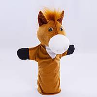 Детская мягкая игрушка,рукавичка,Лошадка